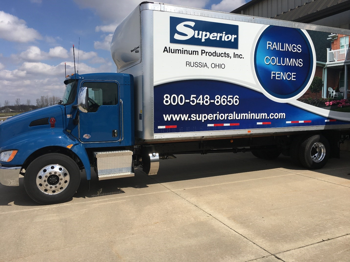 Superior Semi Truck being loaded up to deliver railing straight to the customer.